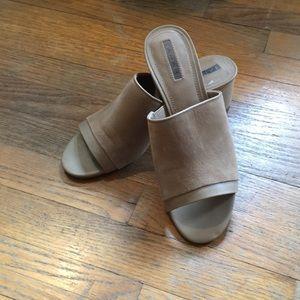Block heel slip on  sandals
